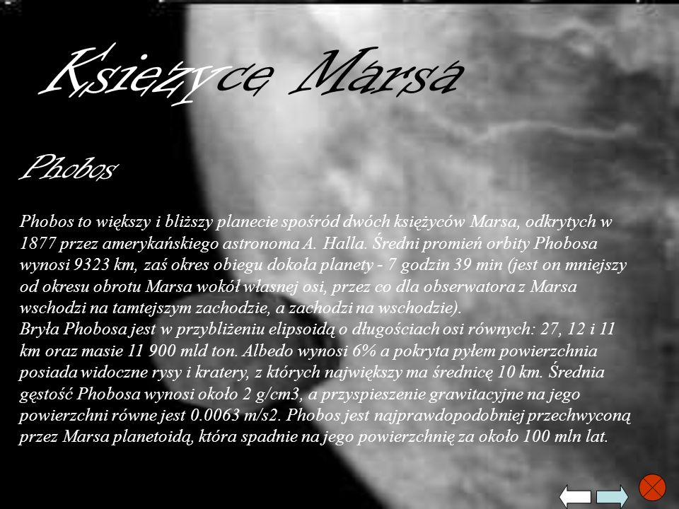 Ksiezyce Marsa Phobos.