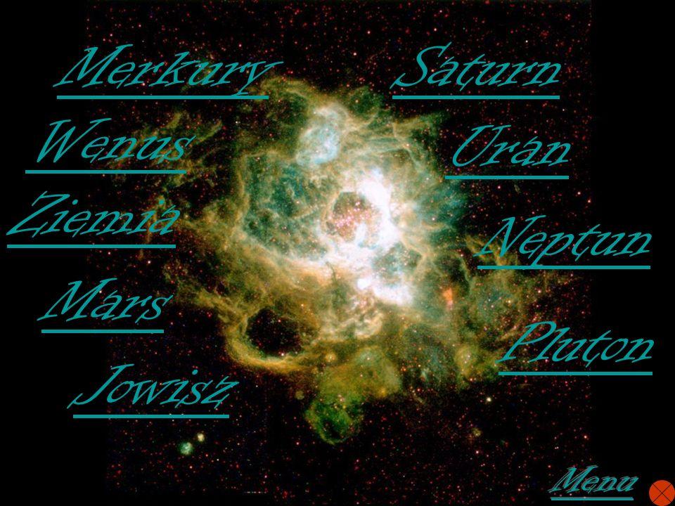 Merkury Saturn Wenus Uran Ziemia Neptun Mars Pluton Jowisz Menu