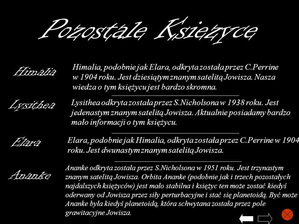 Pozostale Ksiezyce Himalia Lysithea Elara Ananke