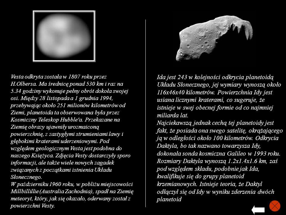 Vesta odkryta została w 1807 roku przez H. Olbersa