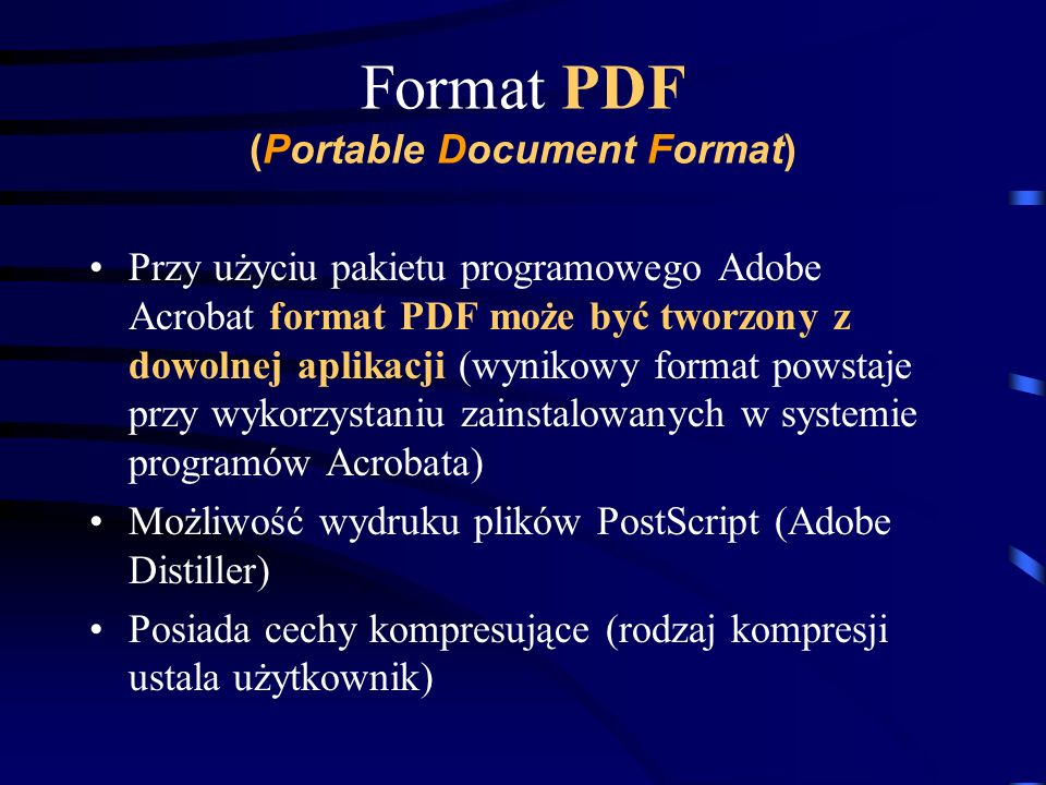 Format PDF (Portable Document Format)