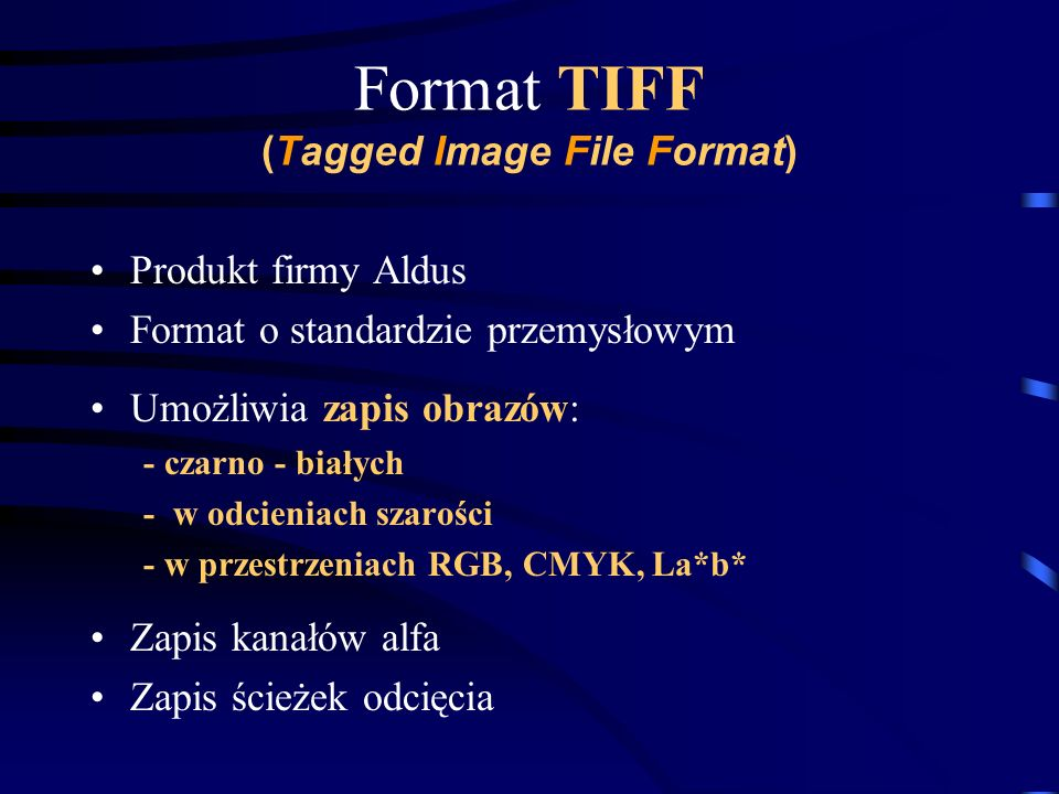 Format TIFF (Tagged Image File Format)