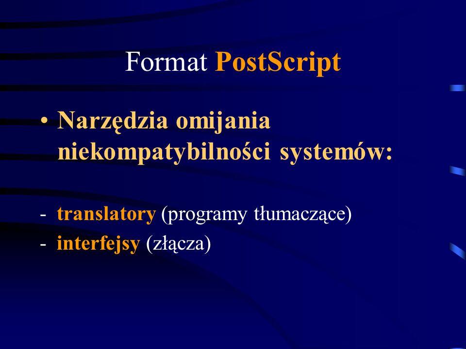 Format PostScript Narzędzia omijania niekompatybilności systemów: