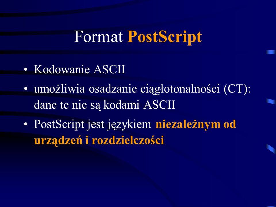 Format PostScript Kodowanie ASCII