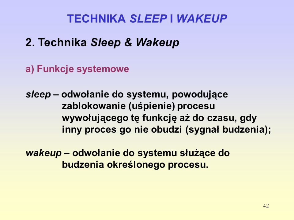 TECHNIKA SLEEP I WAKEUP