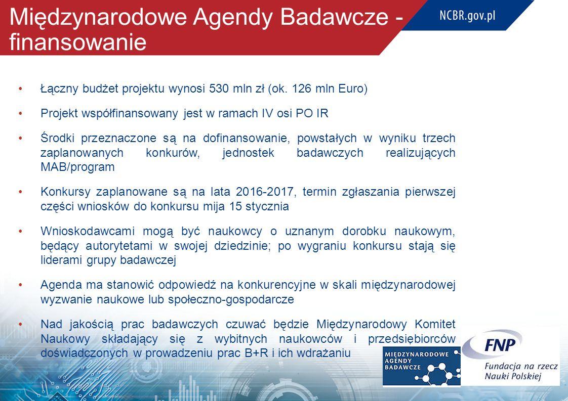 Międzynarodowe Agendy Badawcze - finansowanie