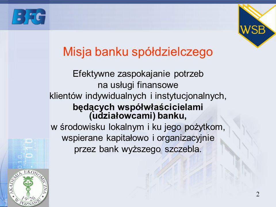 Misja banku spółdzielczego
