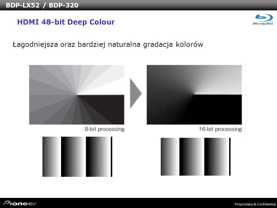 Łagodniejsza oraz bardziej naturalna gradacja kolorów