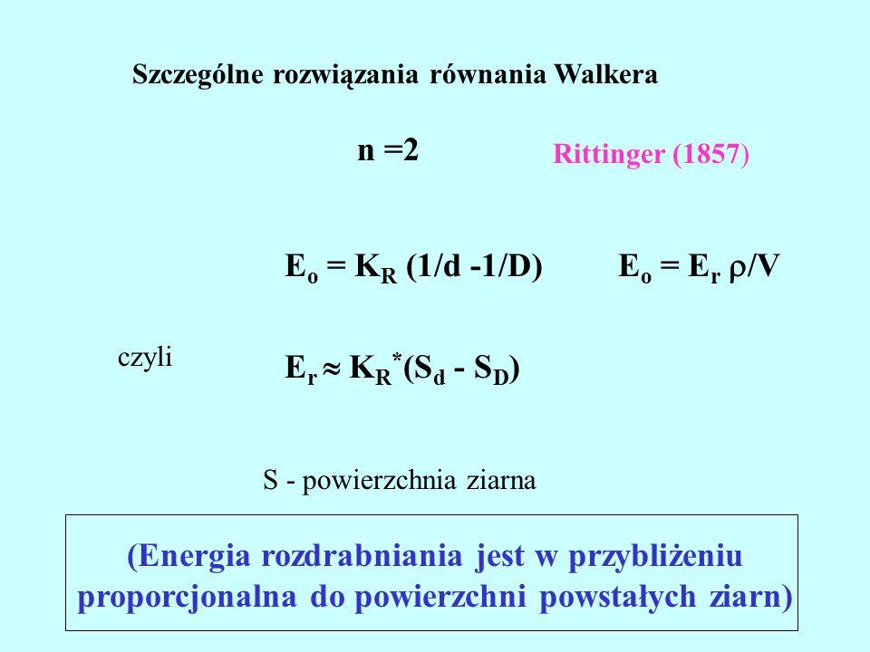 n =2 Eo = KR (1/d -1/D) Eo = Er /V Er  KR*(Sd - SD)