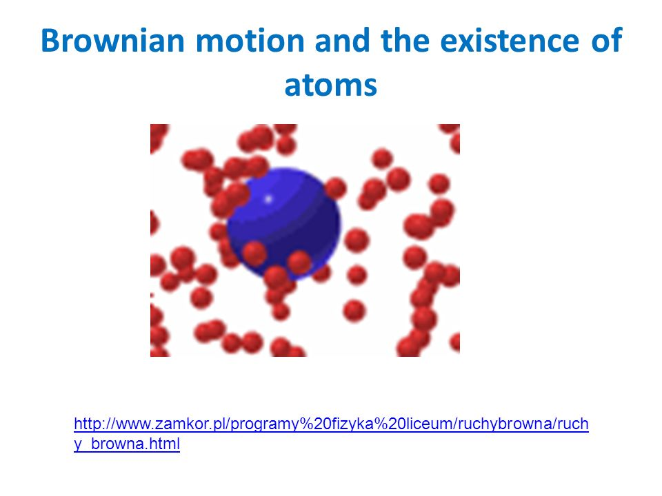 Brownian motion and the existence of atoms