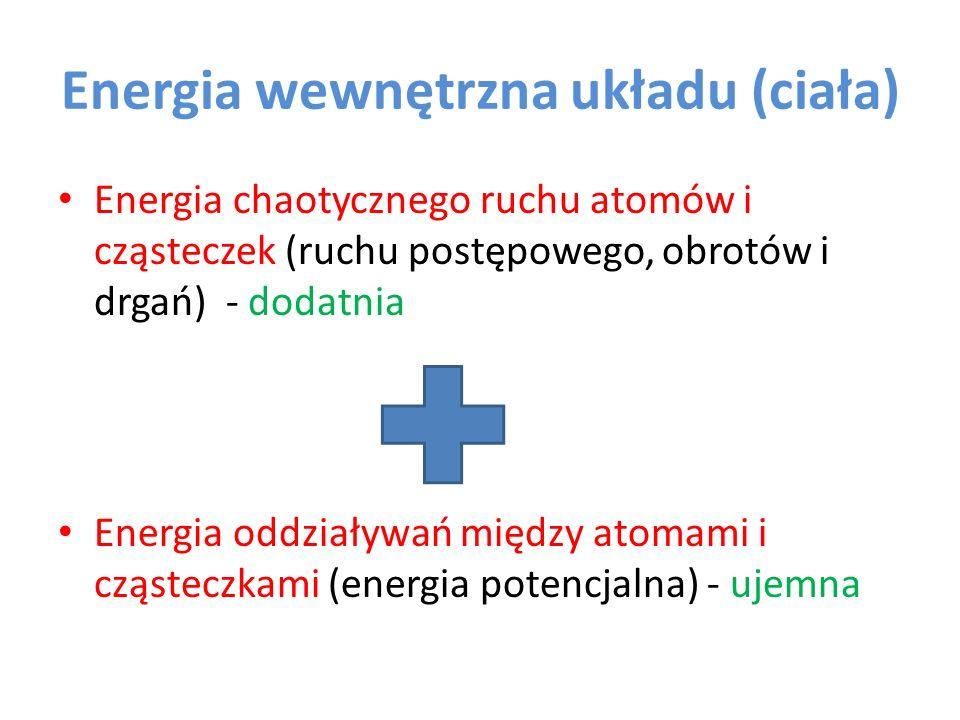 Energia wewnętrzna układu (ciała)