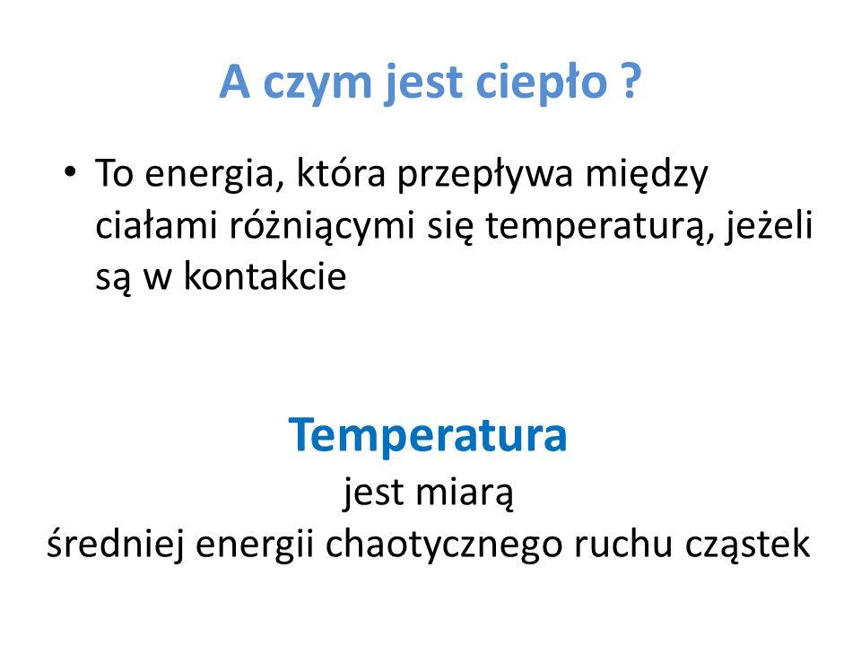 średniej energii chaotycznego ruchu cząstek