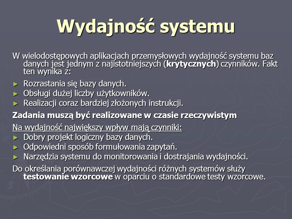Wydajność systemu