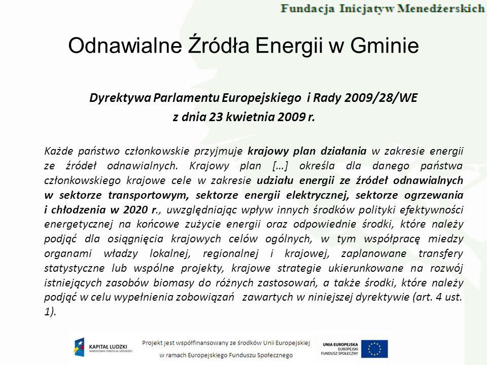 Odnawialne Źródła Energii w Gminie
