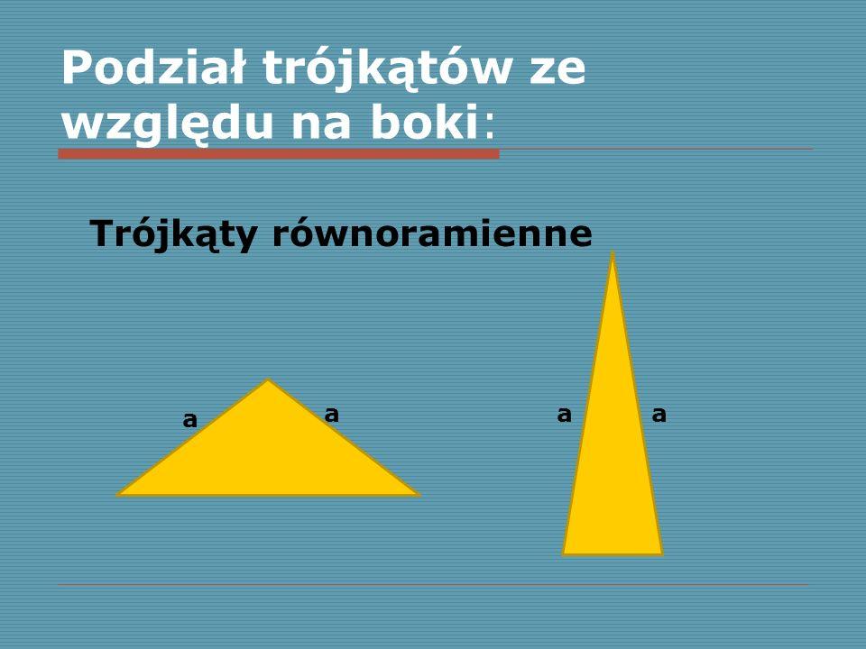 Podział trójkątów ze względu na boki: