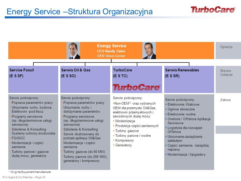 Energy Service –Struktura Organizacyjna