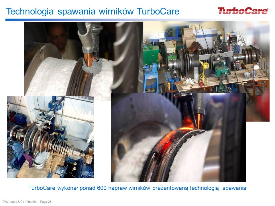 Technologia spawania wirników TurboCare