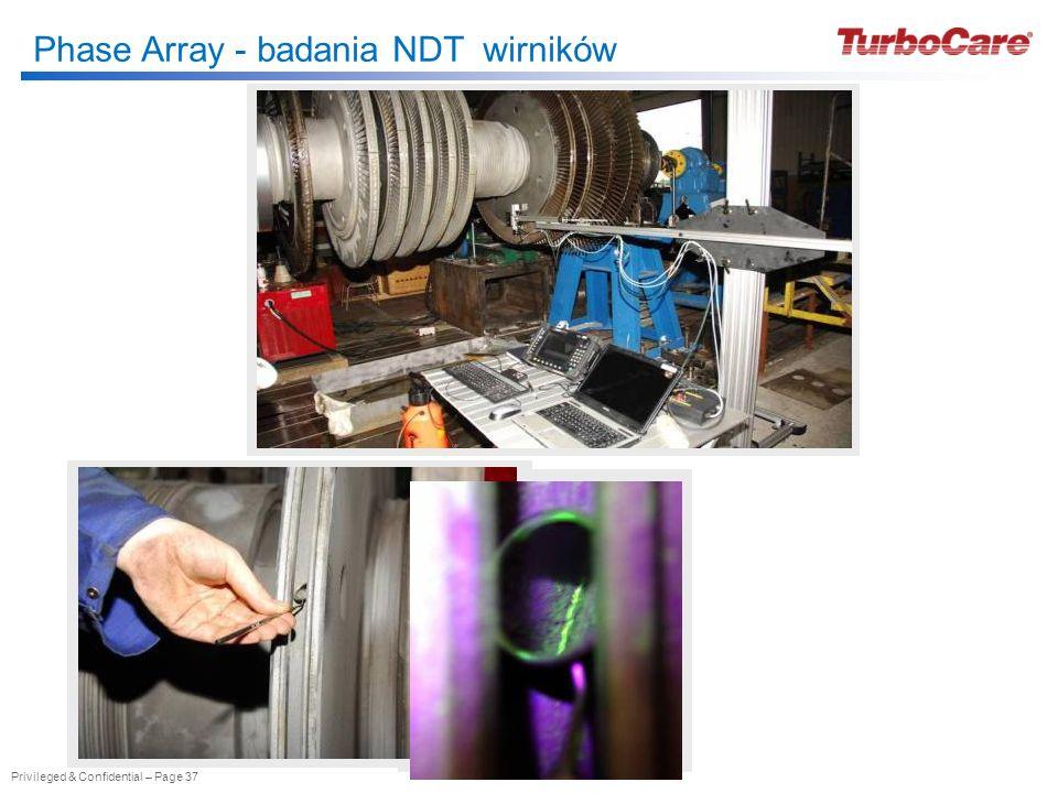Phase Array - badania NDT wirników