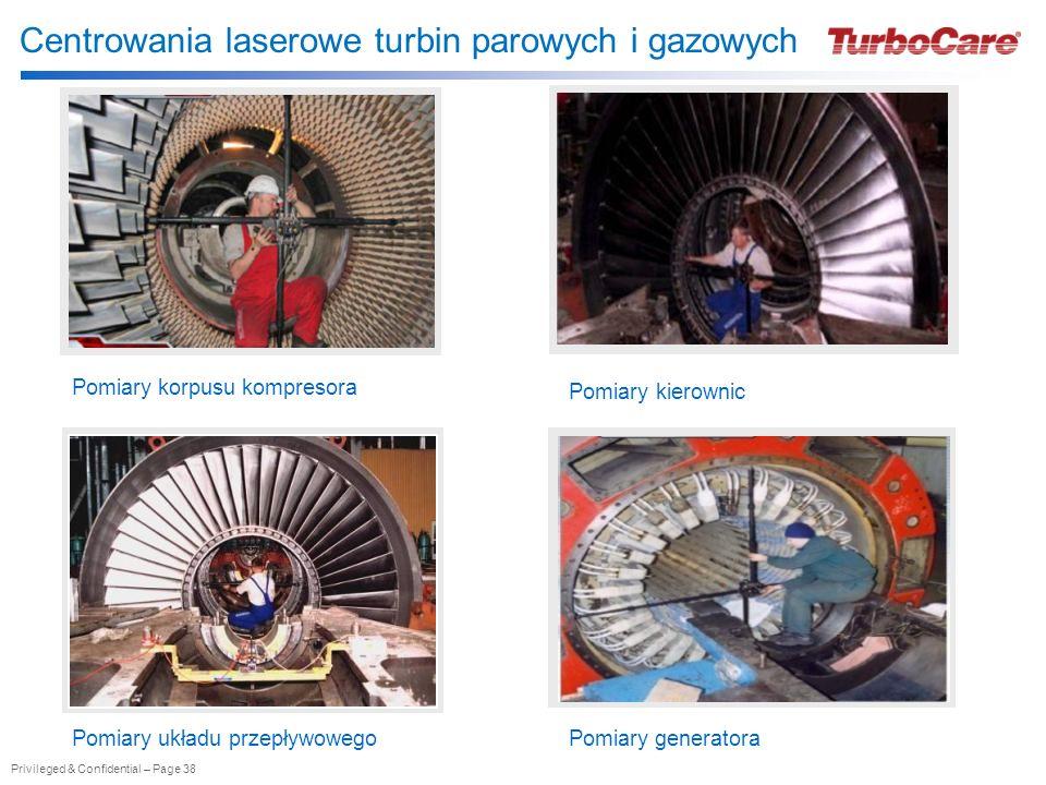 Centrowania laserowe turbin parowych i gazowych