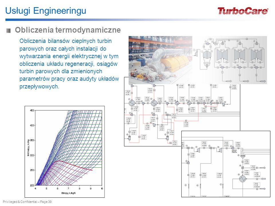 Usługi Engineeringu Obliczenia termodynamiczne