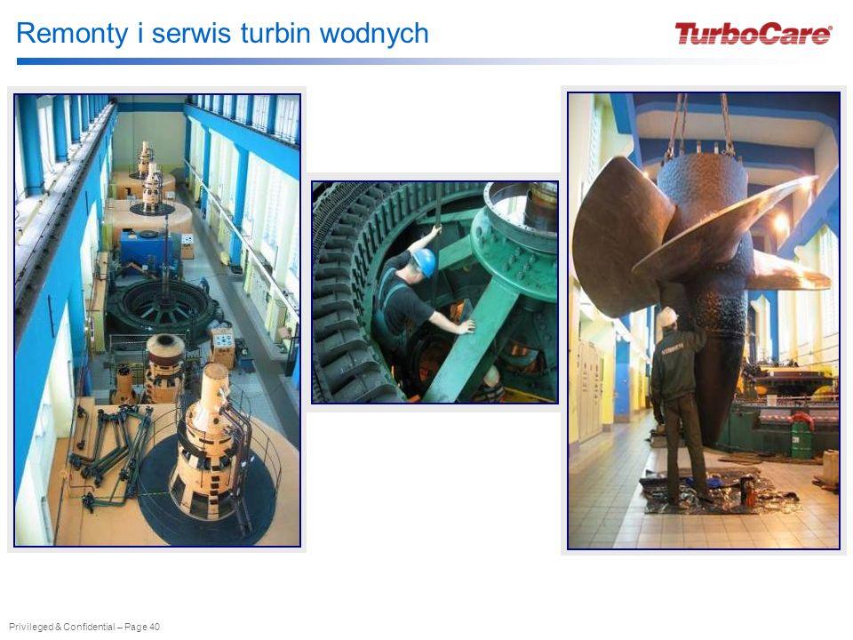 Remonty i serwis turbin wodnych