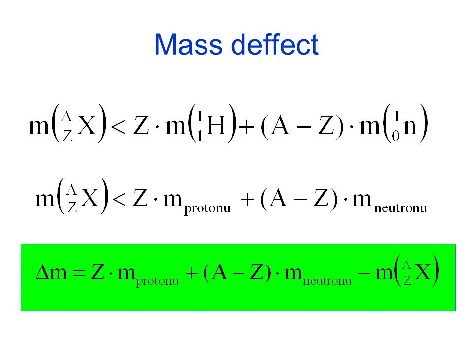 Mass deffect