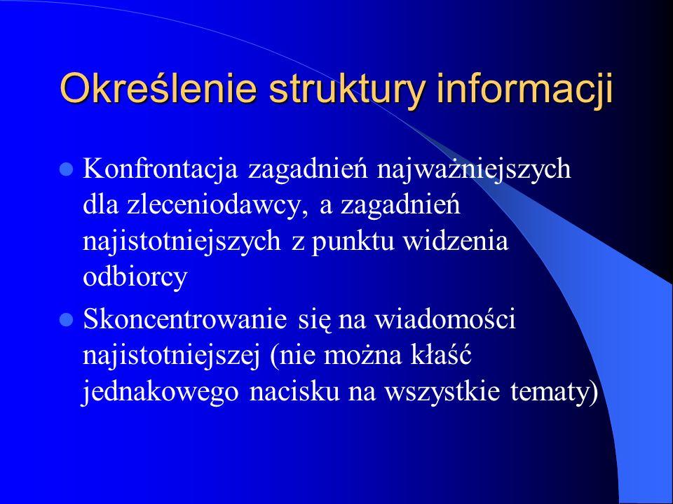 Określenie struktury informacji
