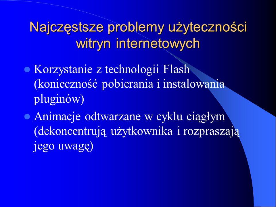 Najczęstsze problemy użyteczności witryn internetowych