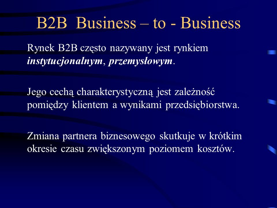 B2B Business – to - Business