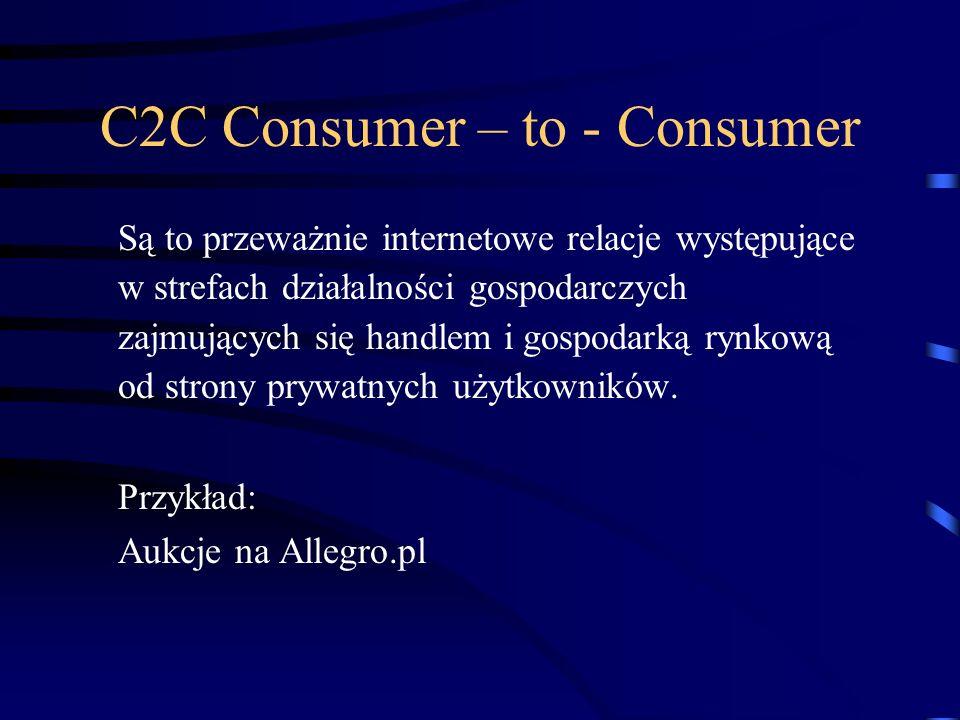 C2C Consumer – to - Consumer