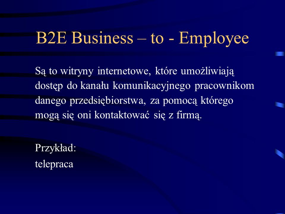 B2E Business – to - Employee