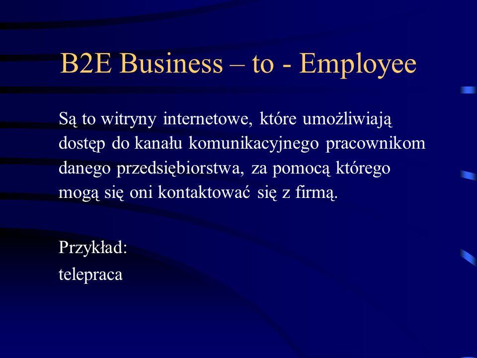 B2E Business – to - Employee