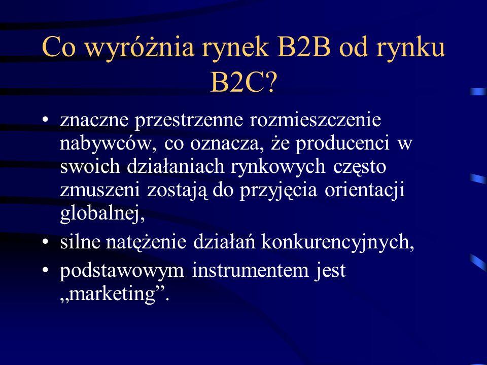 Co wyróżnia rynek B2B od rynku B2C