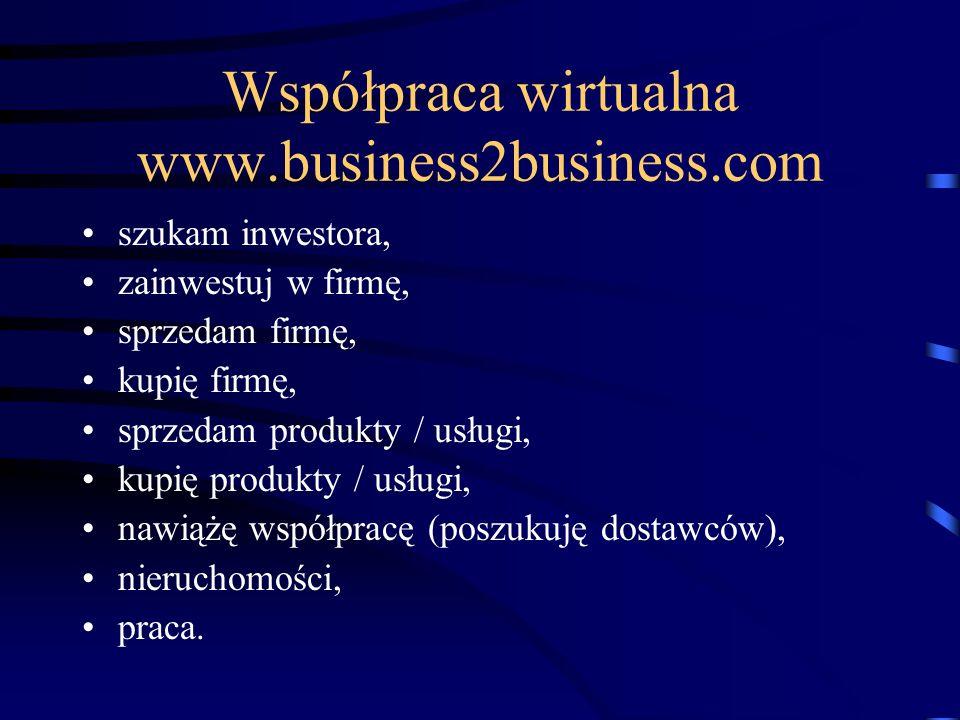 Współpraca wirtualna www.business2business.com