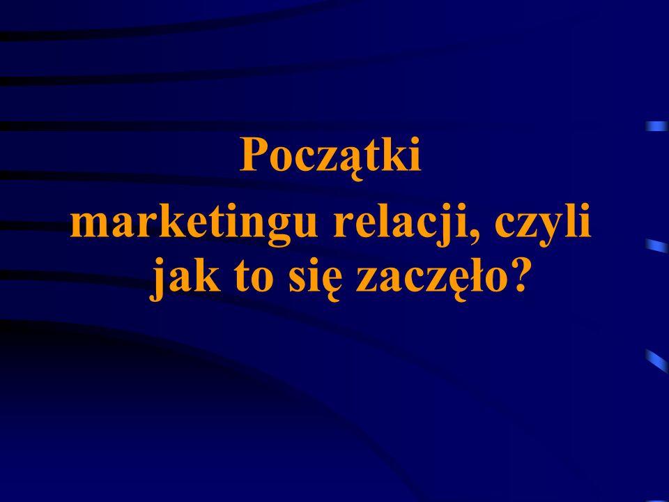 marketingu relacji, czyli jak to się zaczęło