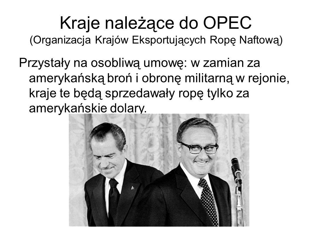 Kraje należące do OPEC (Organizacja Krajów Eksportujących Ropę Naftową)