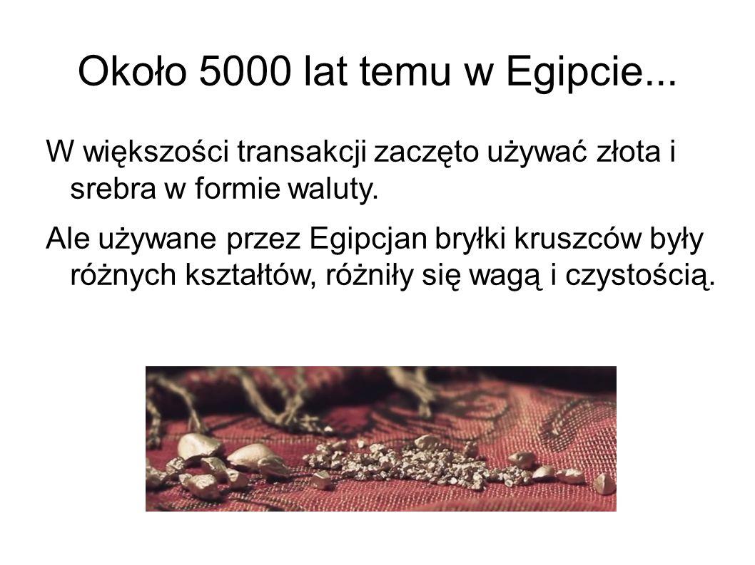 Około 5000 lat temu w Egipcie...