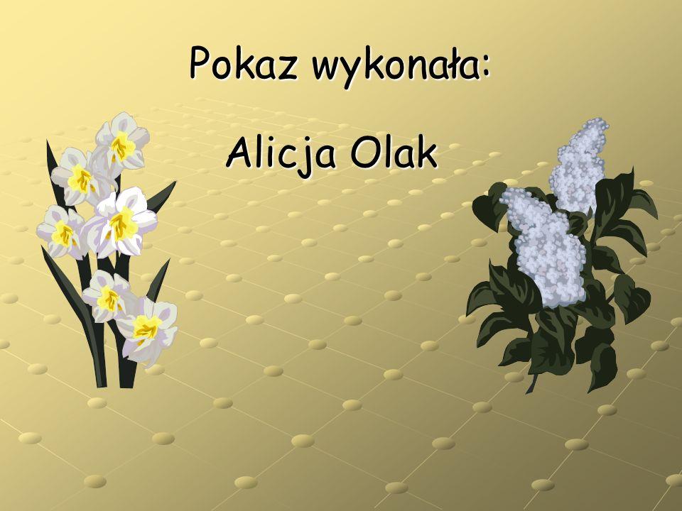Pokaz wykonała: Alicja Olak