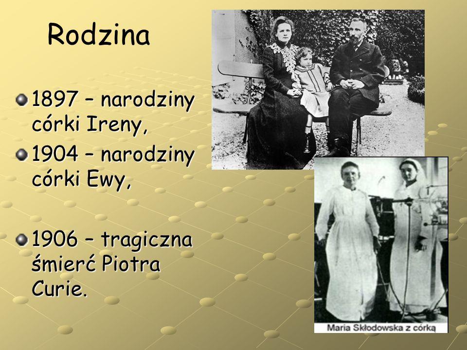 Rodzina 1897 – narodziny córki Ireny, 1904 – narodziny córki Ewy,