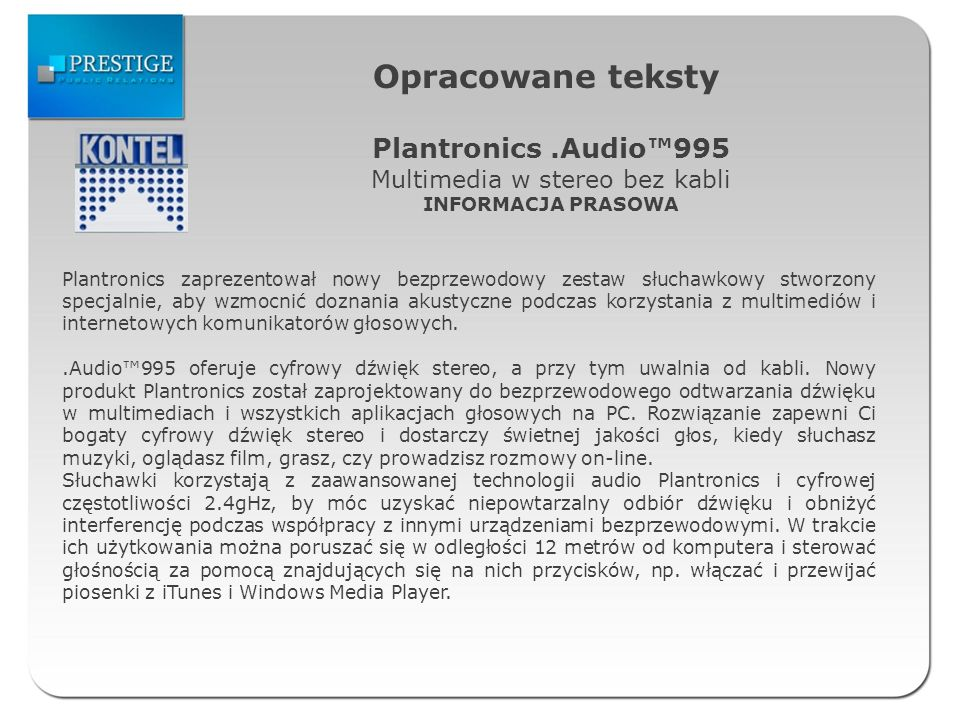 Multimedia w stereo bez kabli