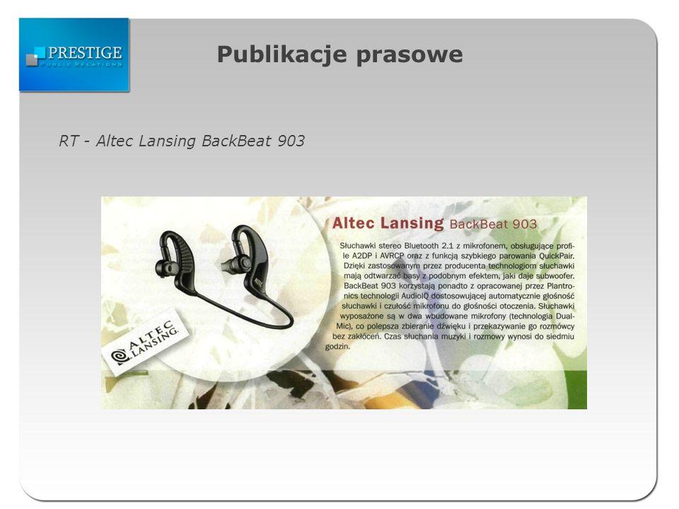 Publikacje prasowe RT - Altec Lansing BackBeat 903