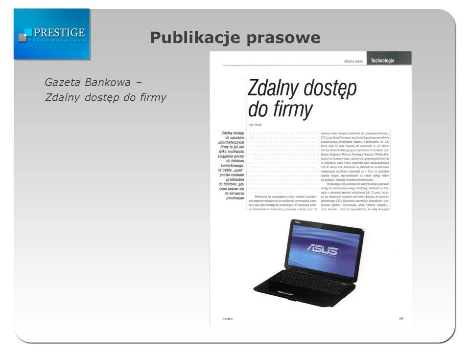 Publikacje prasowe Gazeta Bankowa – Zdalny dostęp do firmy