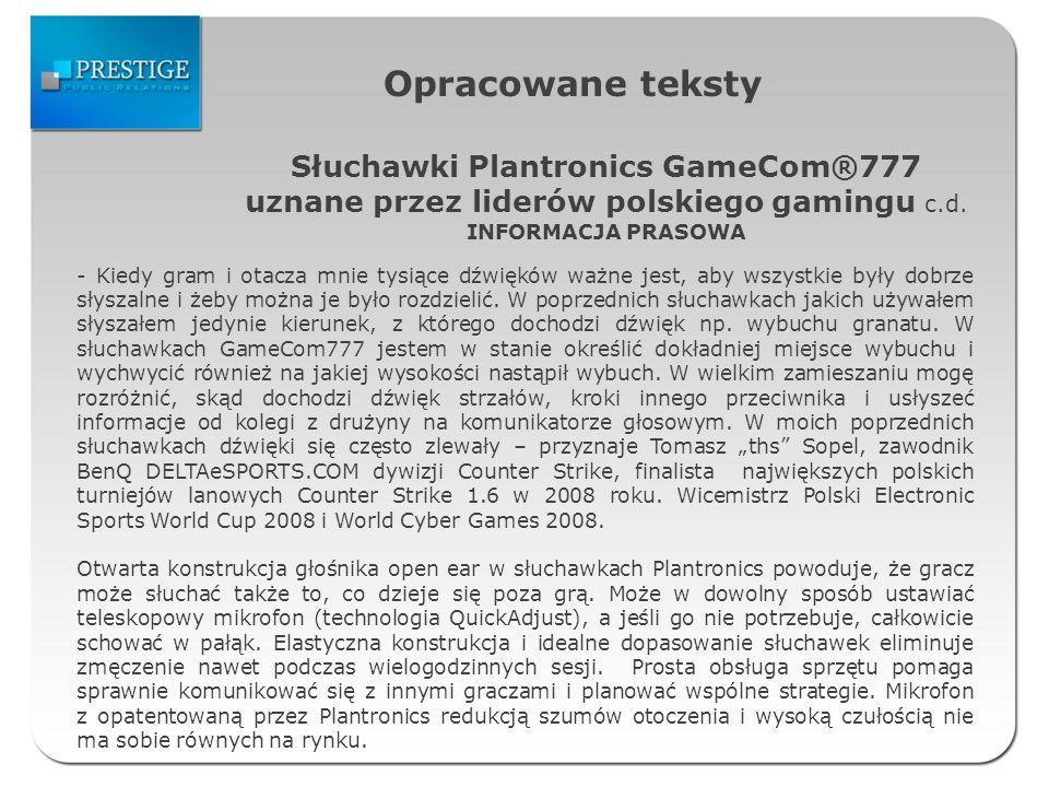 Słuchawki Plantronics GameCom®777