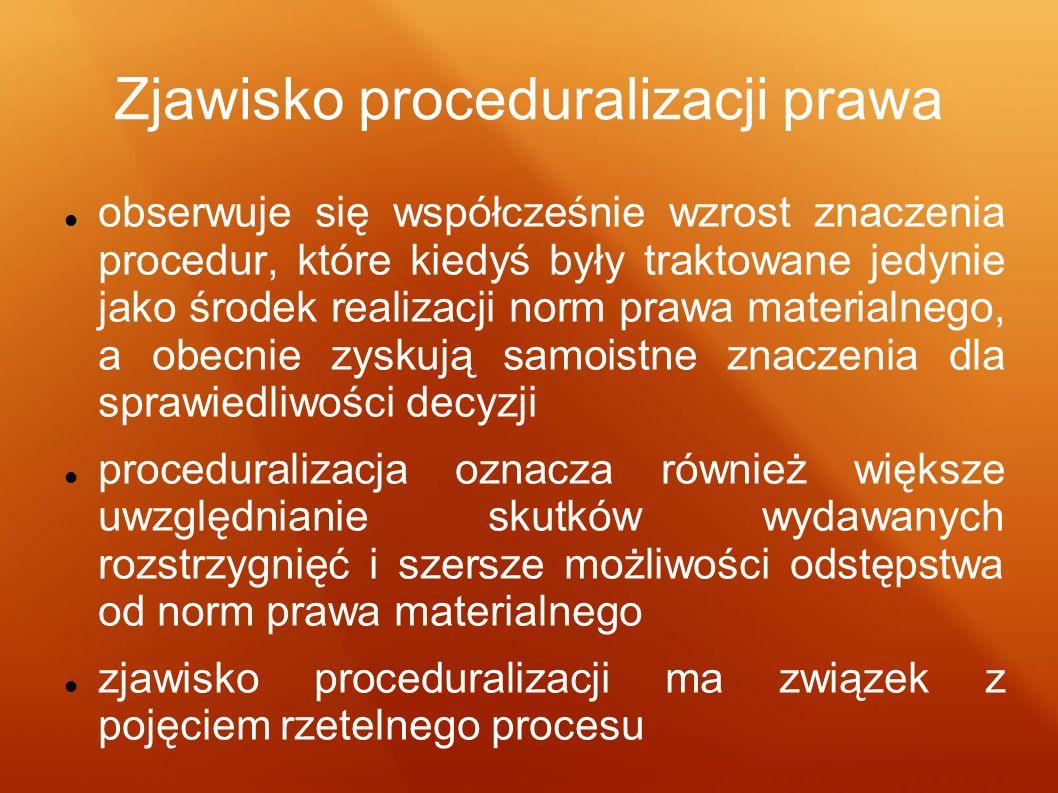 Zjawisko proceduralizacji prawa