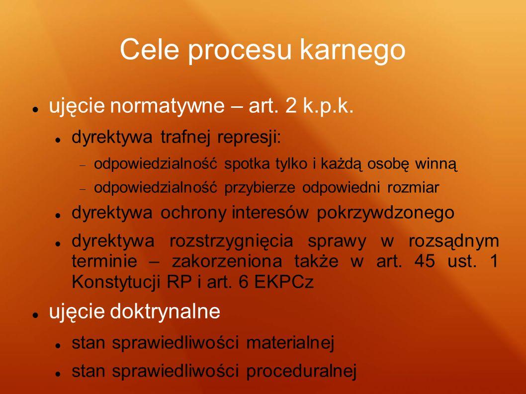 Cele procesu karnego ujęcie normatywne – art. 2 k.p.k.