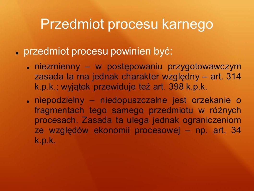 Przedmiot procesu karnego