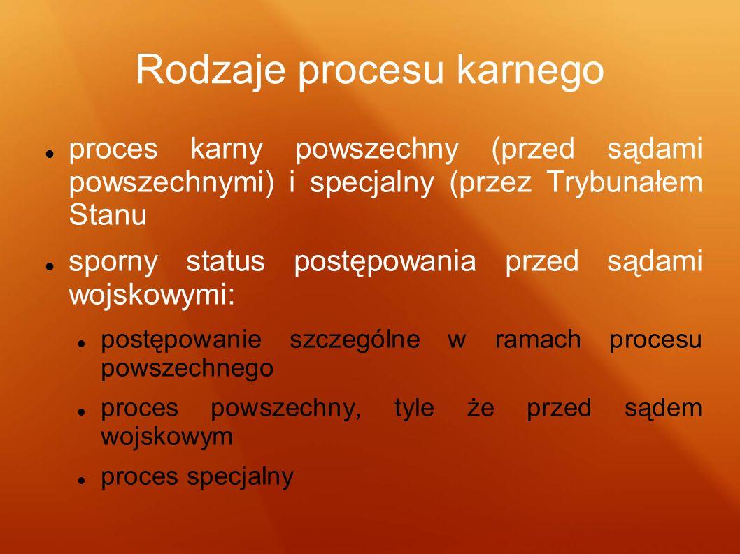 Rodzaje procesu karnego
