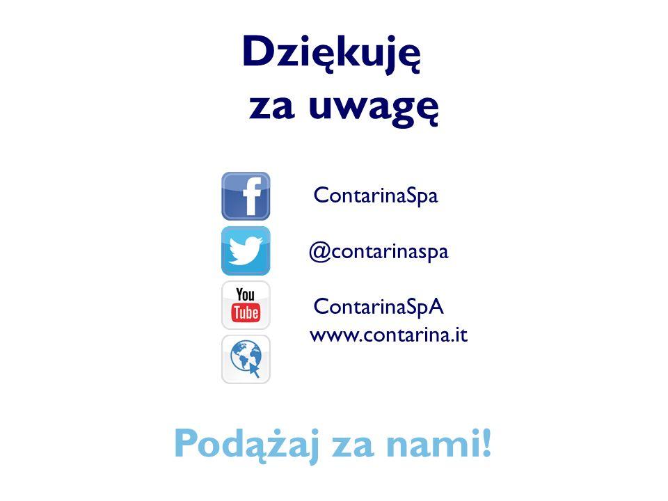 Dziękuję za uwagę Podążaj za nami! ContarinaSpa @contarinaspa