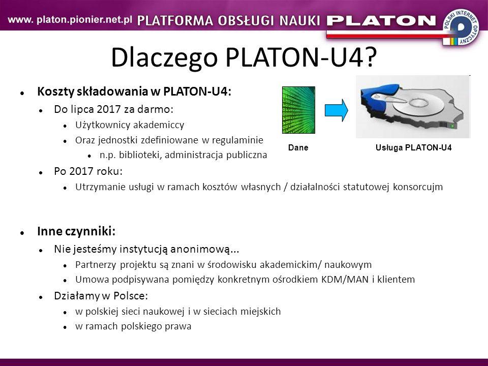 Dlaczego PLATON-U4 Koszty składowania w PLATON-U4: Inne czynniki: