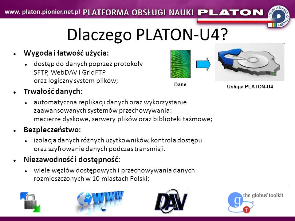 Dlaczego PLATON-U4 Wygoda i łatwość użycia: Trwałość danych: